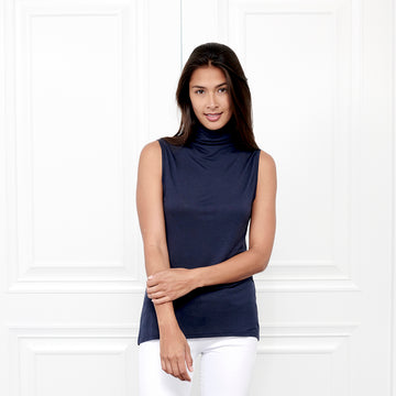 Cashmere Sleeveless Turtleneck