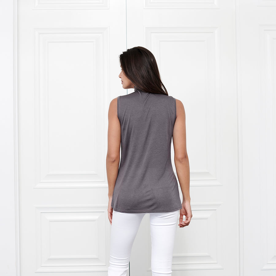 Cashmere Sleeveless Turtleneck - Fite Luxury