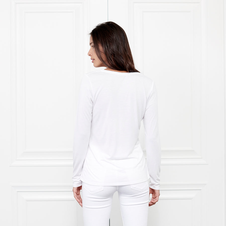 Cashmere V Neck Long Sleeve - Fite Luxury