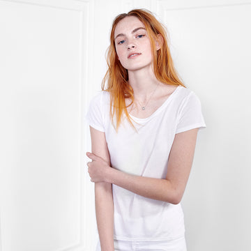 Cashmere Scoop Neck Short Sleeve - Fite Luxury