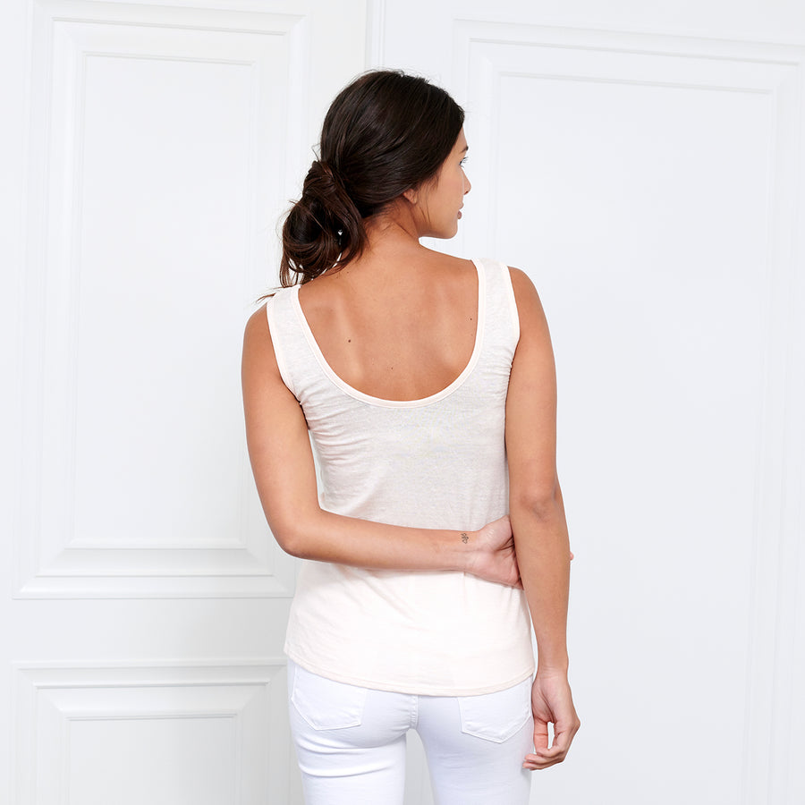 Linen Scoop Neck Tank