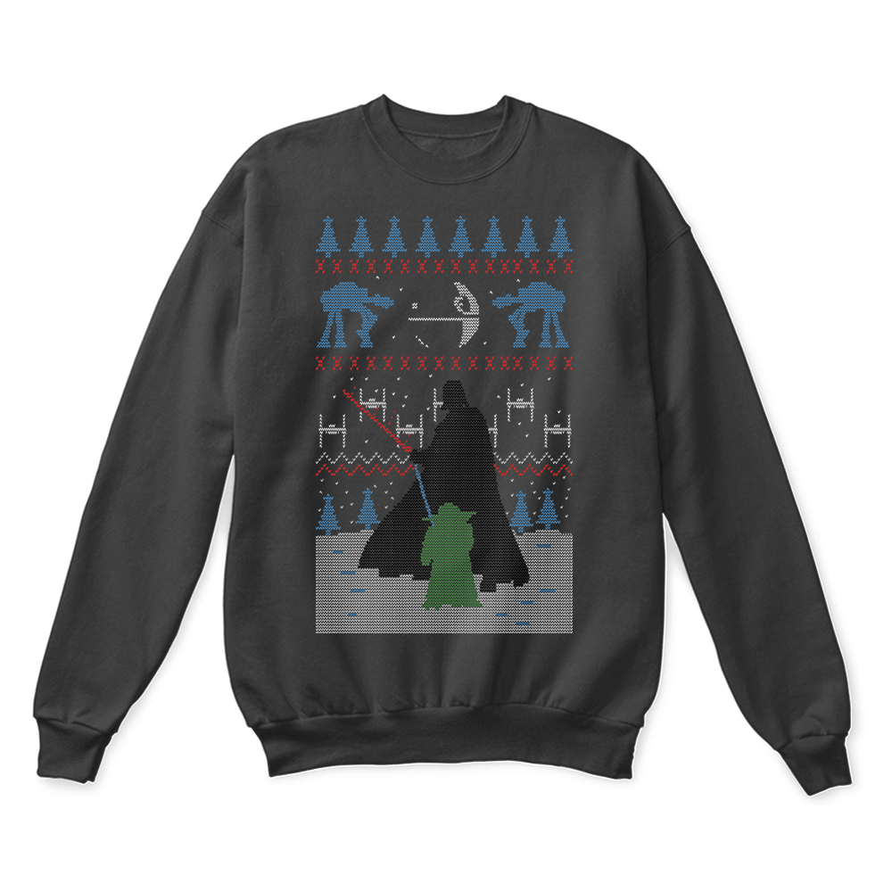 Yoda VS Darth Vader The Fight Before Christmas Ugly Sweater – Teeperfect