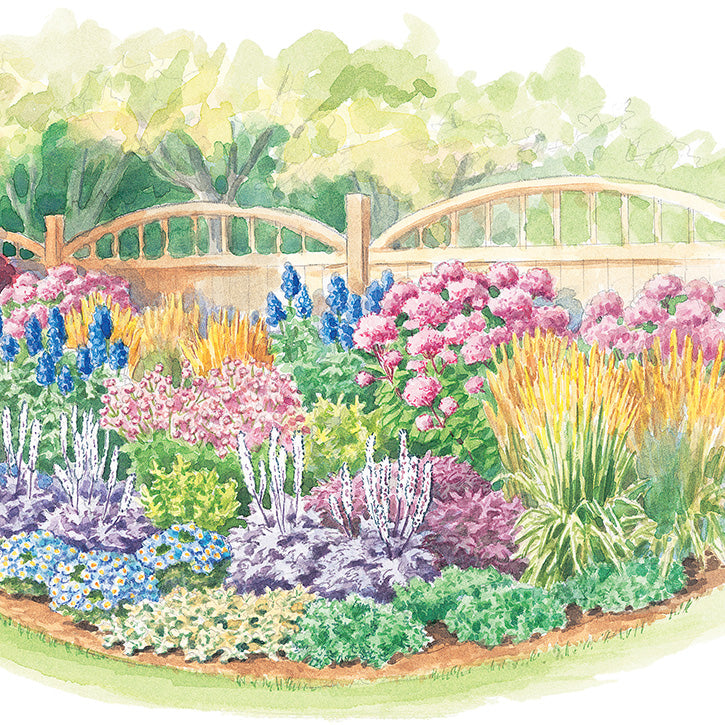 Three-Season Border Garden Plan