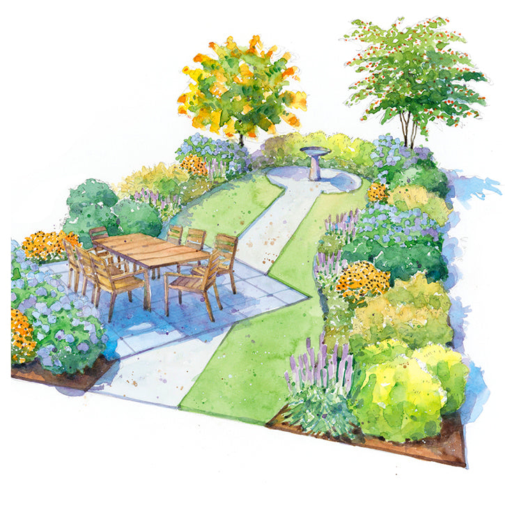 Restful Shade Garden Plan