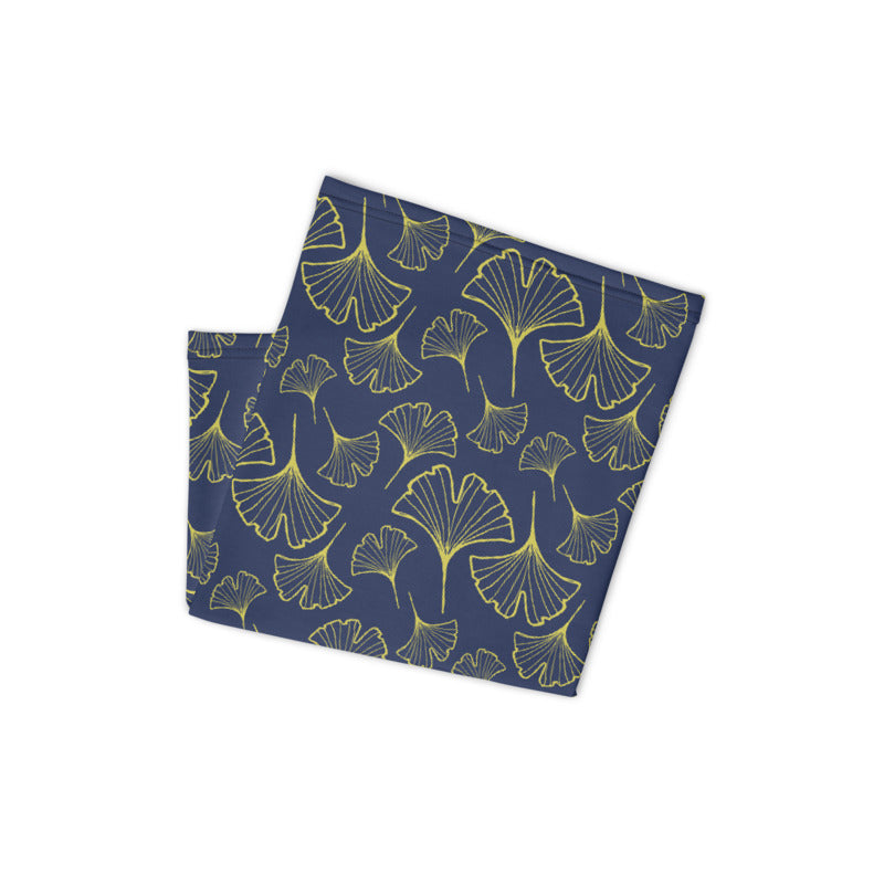 Ginkgo Leaf Neck Gaiter (Green Sheen/Blue Depths)