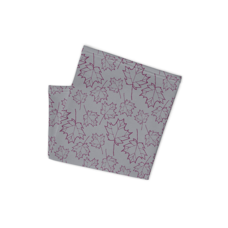 Maple Leaf Neck Gaiter (Magenta Purple/Sleet)