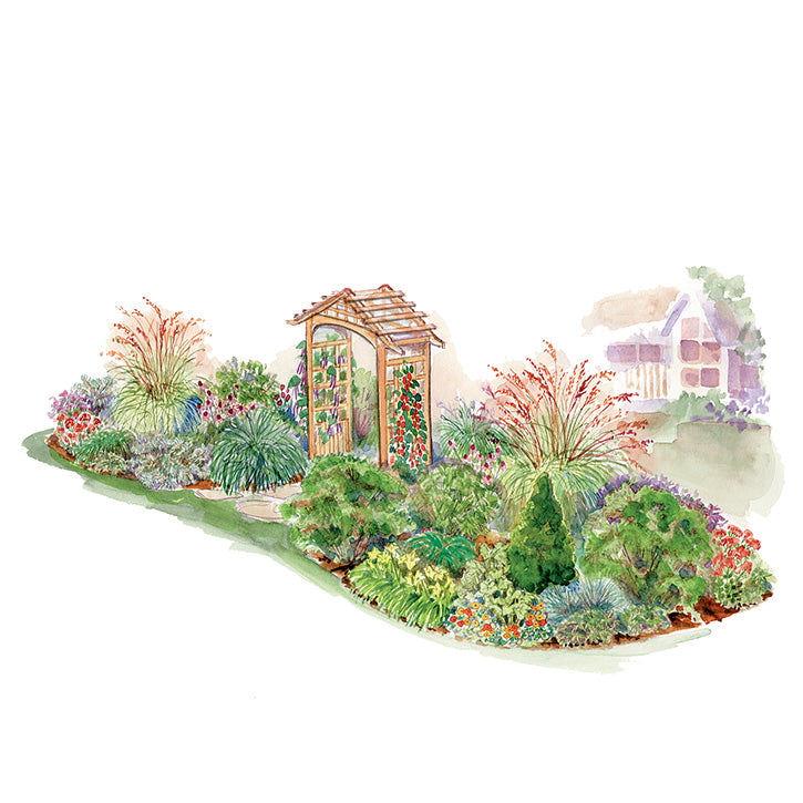 Mixed Island Garden Plan