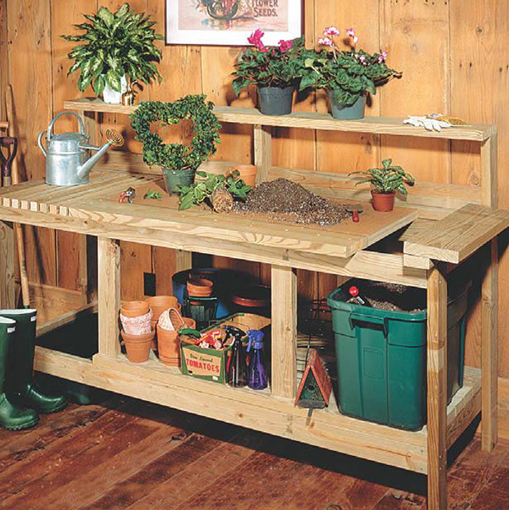 Potting Bench Wood Project