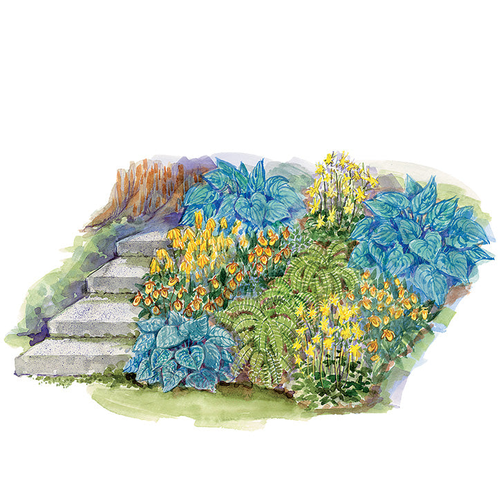 Colorful Corner Garden Plan