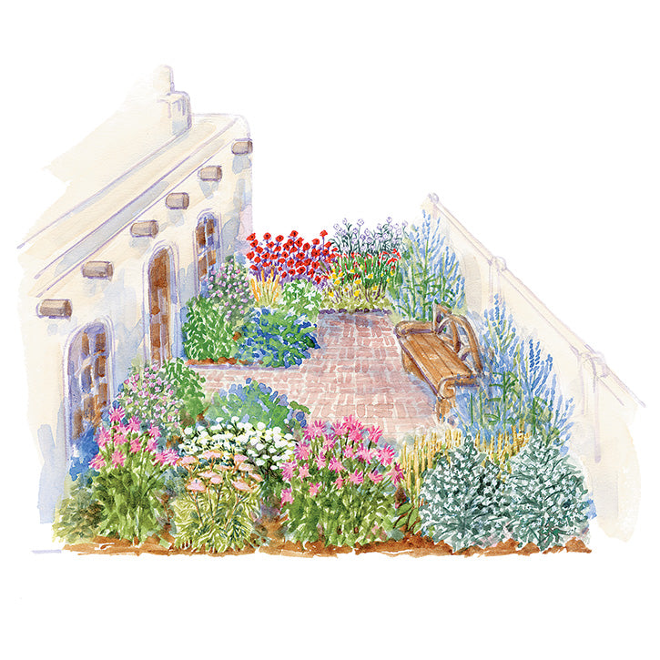 Sunny Retreat Garden Plan