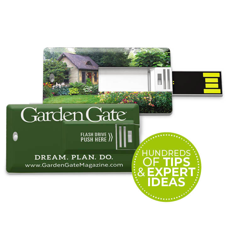 Ultimate Garden Design Tips Collection USB Drive