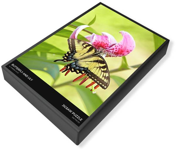 Butterfly and Lily Jigsaw Puzzle