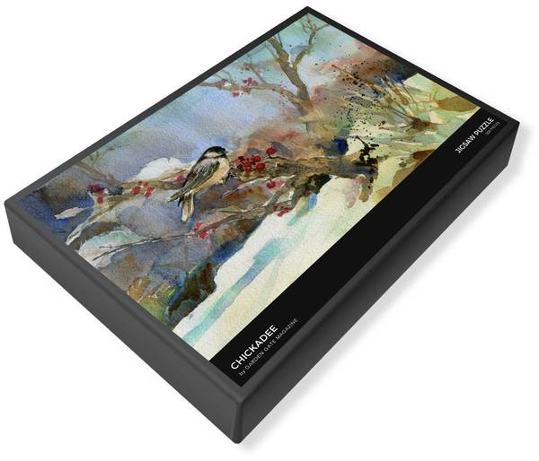 Chickadee Illustration Jigsaw Puzzle