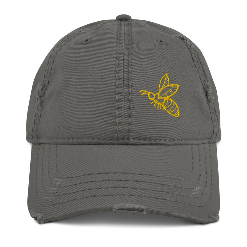 Bee Distressed Dad Hat