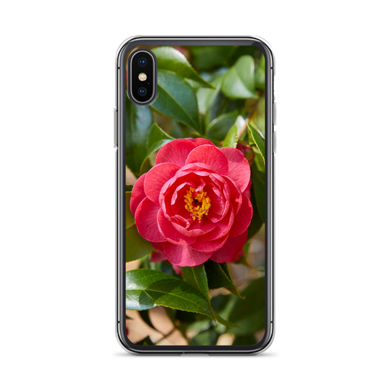 Red Camelia iPhone Case
