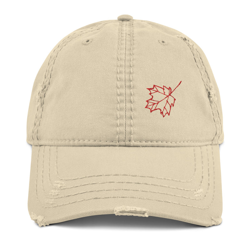 Maple Leaf Distressed Dad Hat