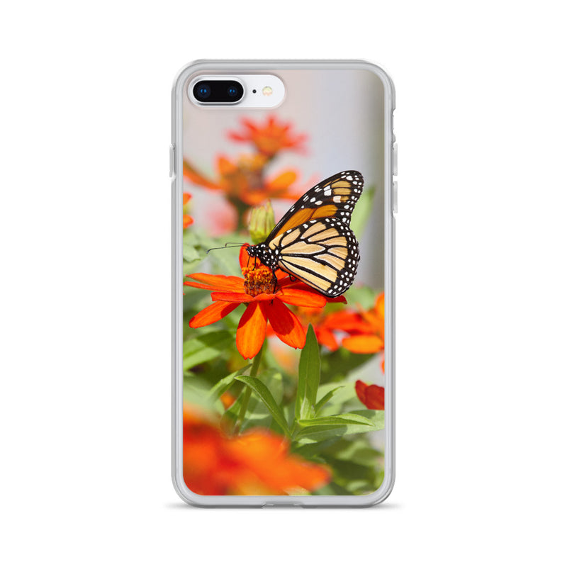 Monarch on Zinnia iPhone Case