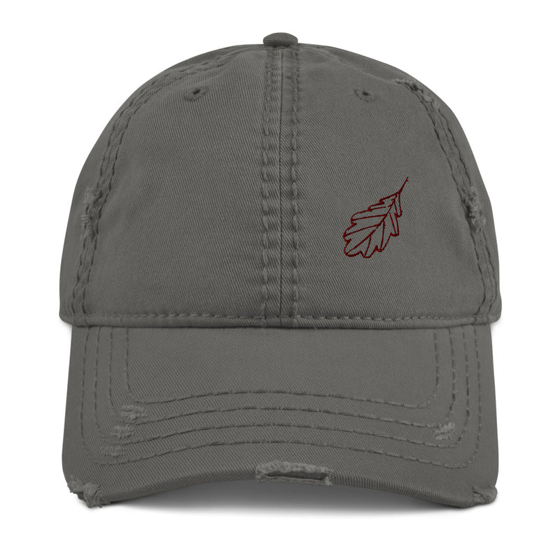 Oak Leaf Distressed Dad Hat