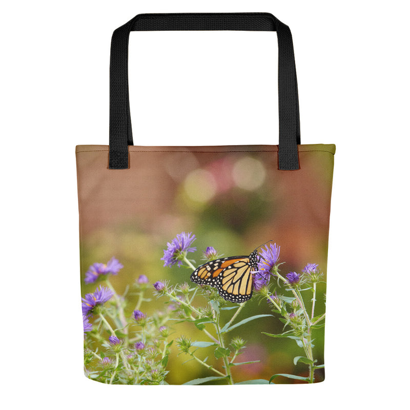 Monarch on Aster Tote Bag