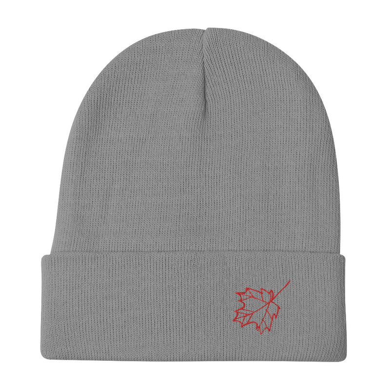 Maple Leaf Embroidered Beanie