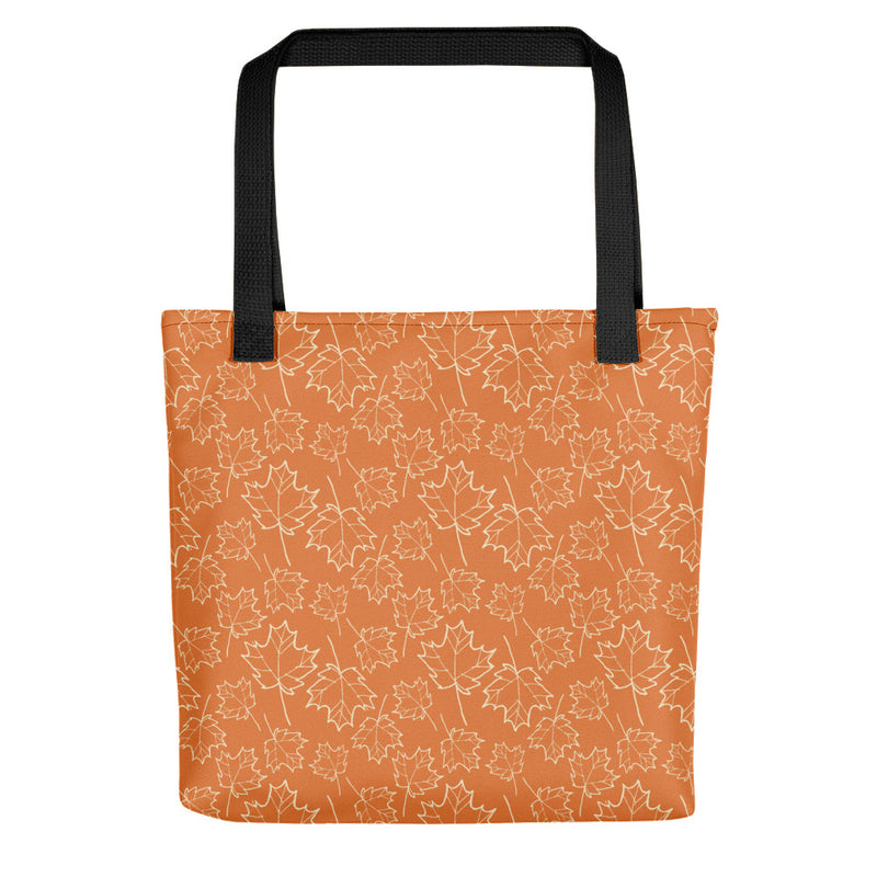 Maple Leaf Tote Bag (Almond Oil/Amber Glow)