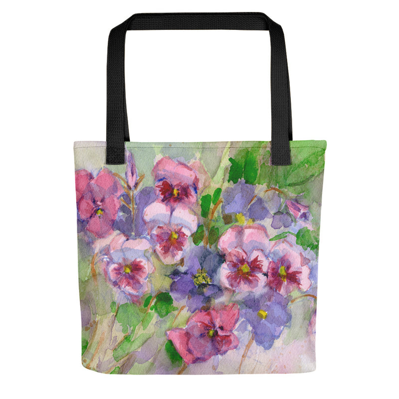 Ginkgo Leaf Tote Bag (Green Sheen/Blue Depths)