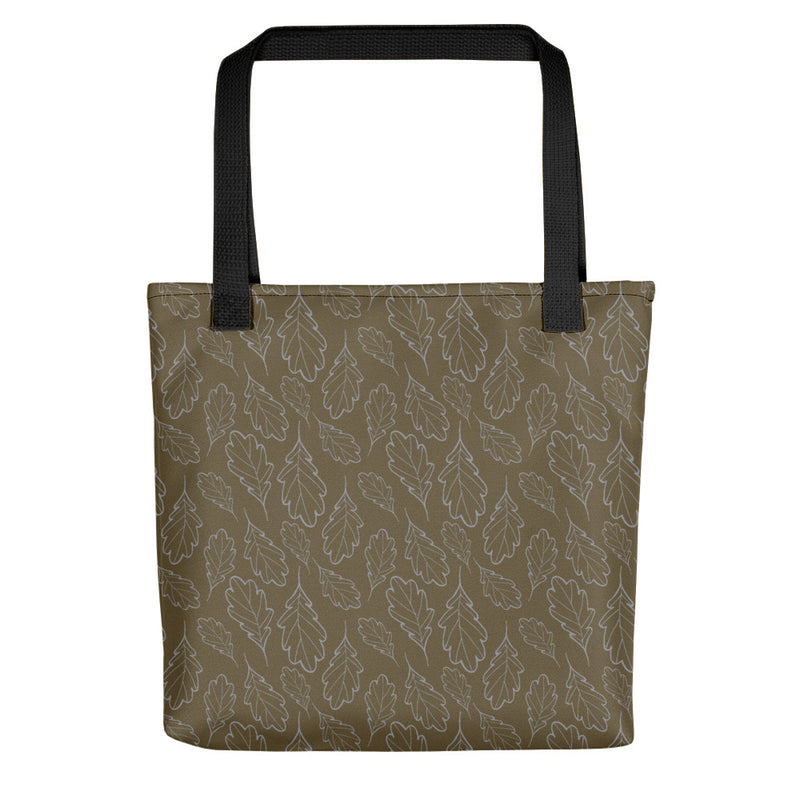 Oak Leaf Tote Bag (Sleet/Military Olive)