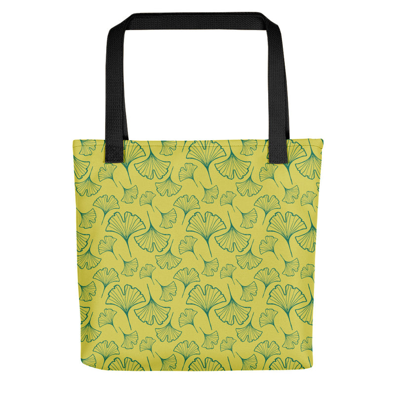 Ginkgo Leaf Tote Bag (Ultramarine Green/Green Sheen)