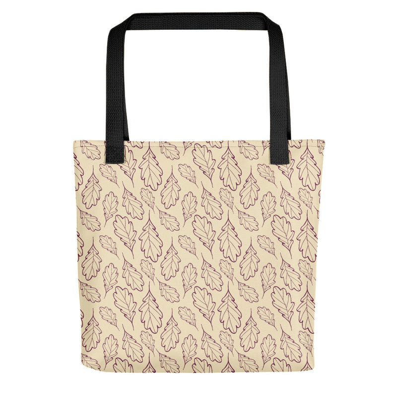 Oak Leaf Tote Bag (Magenta Purple/Almond Oil)