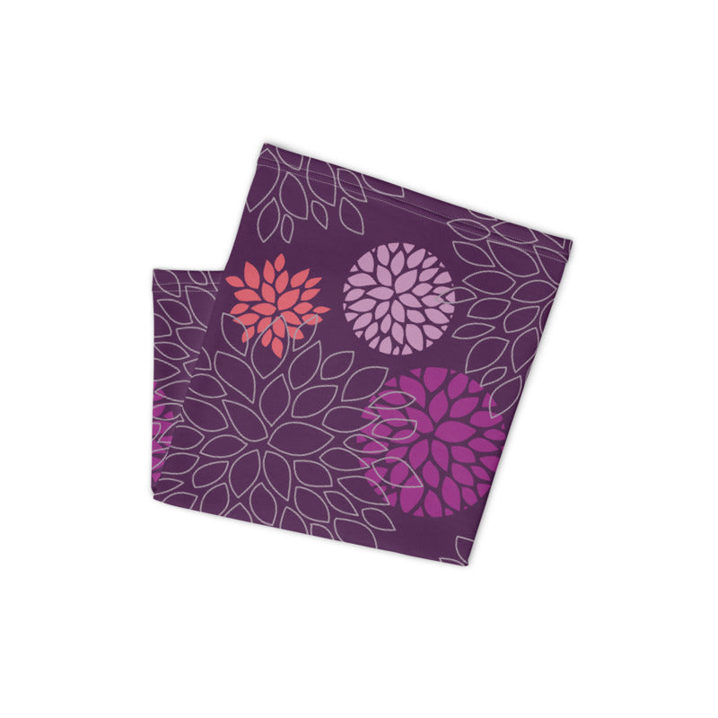 Floral Print (Purple) Neck Gaiter