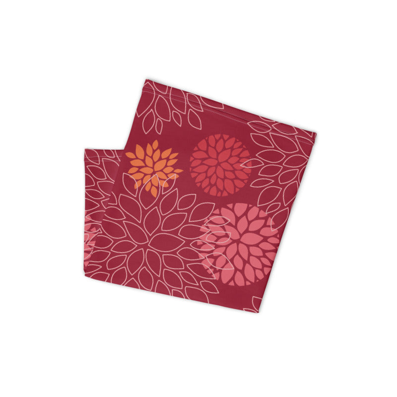 Floral Print (Red) Neck Gaiter