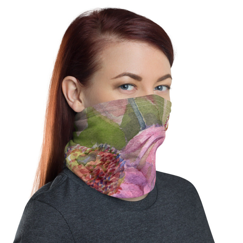 Purple Coneflower Neck Gaiter