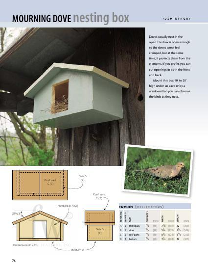 Mourning Dove Nesting Box