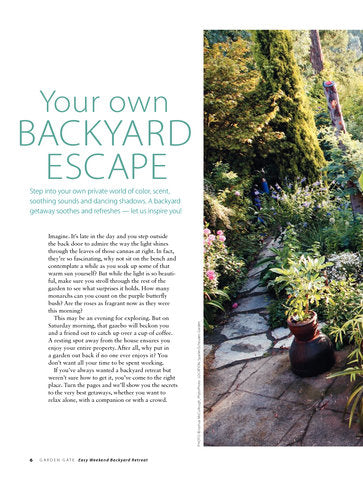 Easy Weekend Backyard Retreat Volume 1