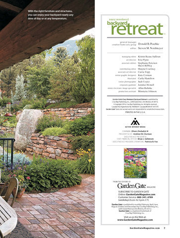 Easy Weekend Backyard Retreat, Volume 3