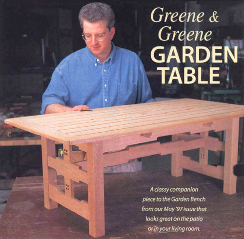 Greene & Greene Garden Table