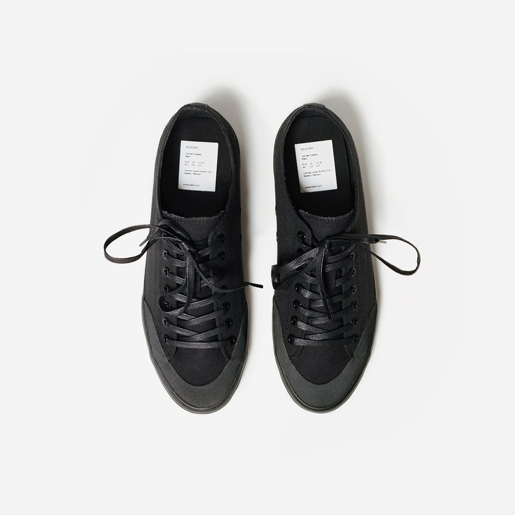 Black Canvas Sneaker