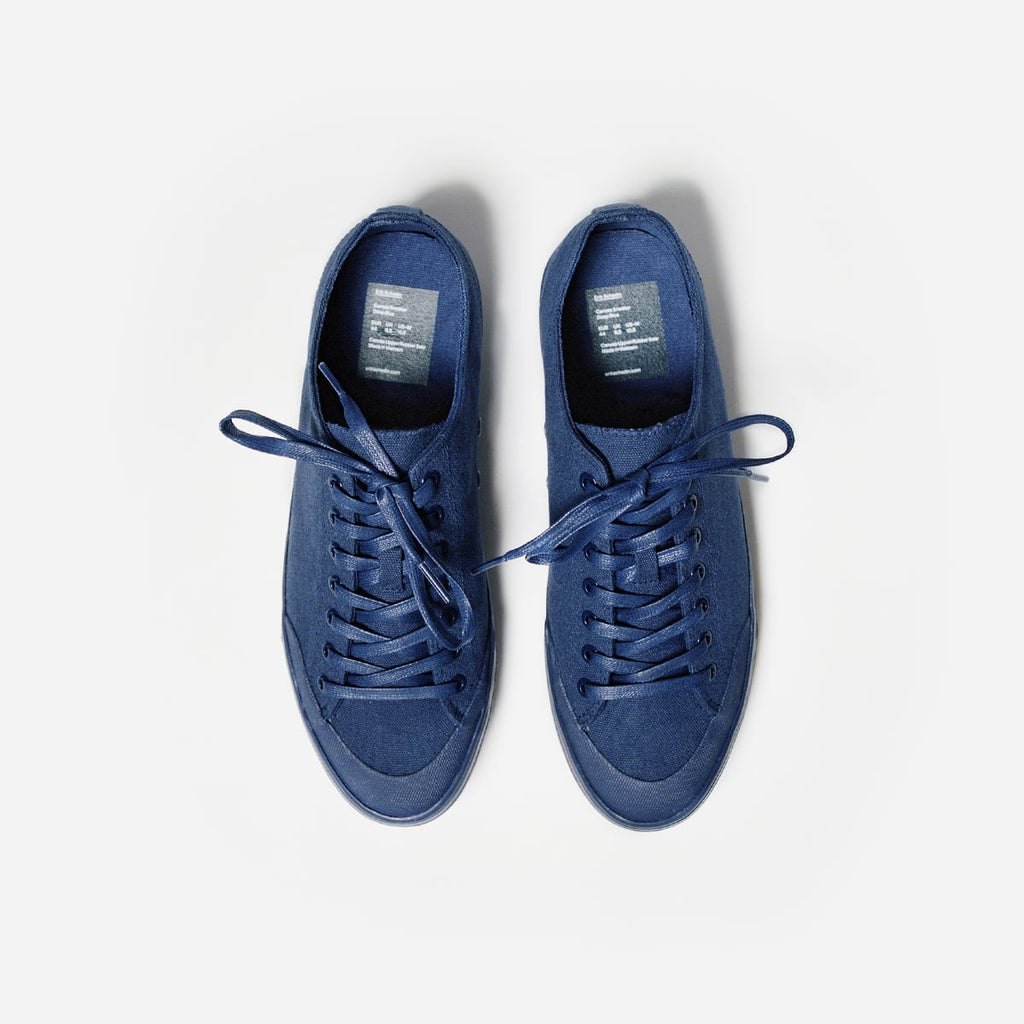 Deep Blue Canvas Sneaker