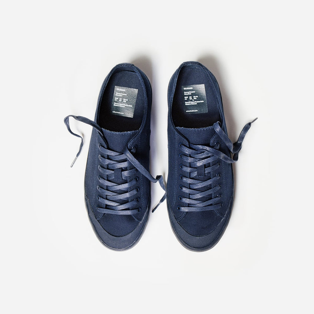 Navy Blue Canvas Sneaker