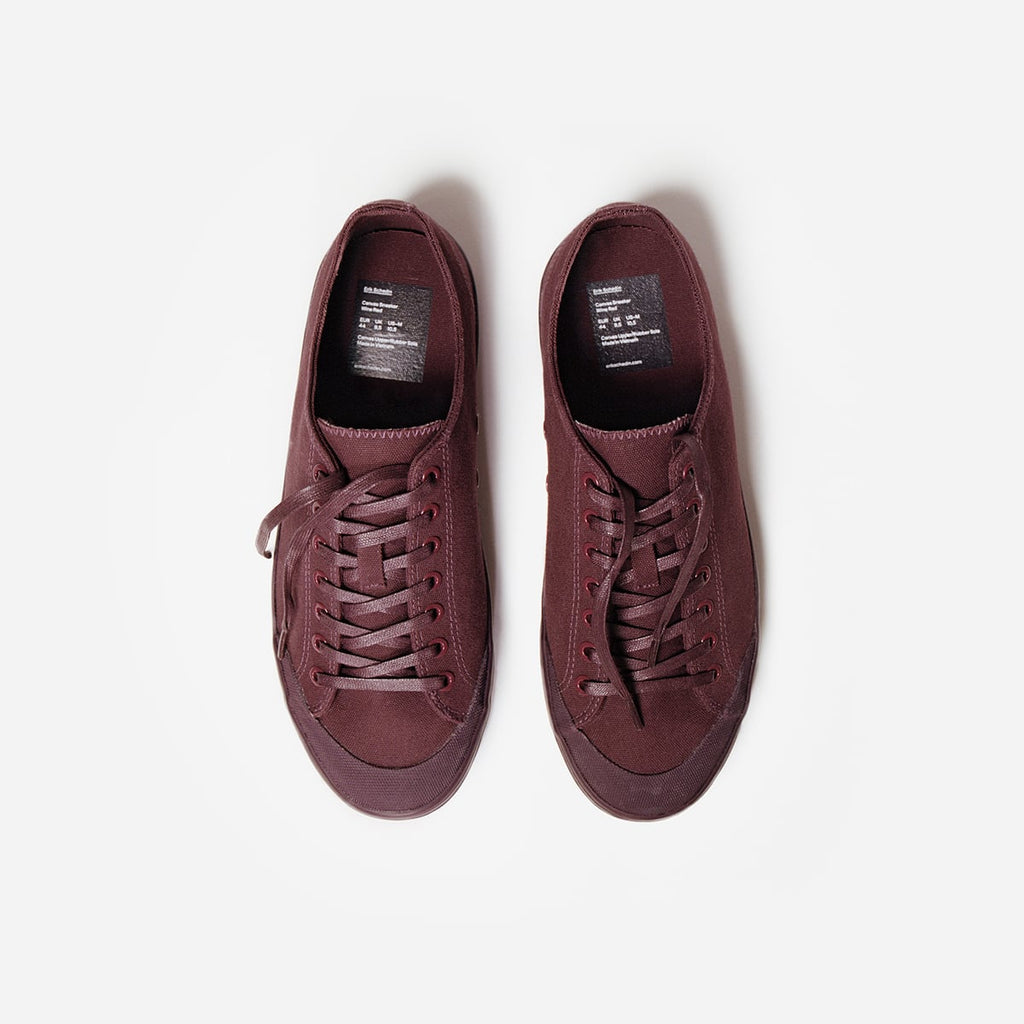 Wine Red Canvas Sneaker