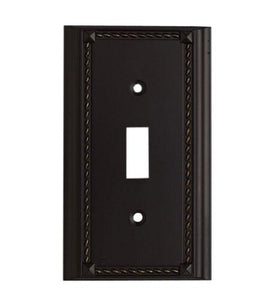 Elk Lighting 2501AGB, Aged Bronze, Switch, Single Gang Plate