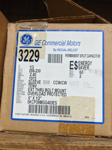 GE 3229, 1/3 HP, 208-230 Volts, 5KCP39MGG403ES
