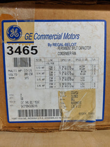 GE 3465, 1/3 HP, 208-230 Volts, 5KCP39KGU361AS