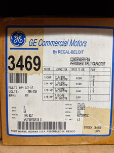 GE 3469, 1/3 HP, 208-230 Volts, 5KCP39PGU418S