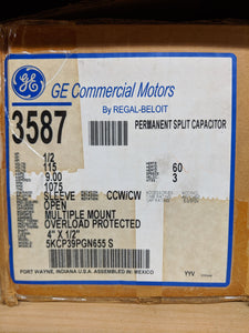 GE 3587, 1/2 HP, 115 Volts, 5KCP39PGN655S