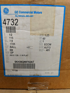 GE 4732, 1/2 HP, 115 Volts, 5KH39QN9702AT