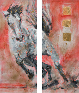 Maenad Wild I and II (Diptych) SOLD
