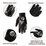 Men Golf Gloves Winter Plush Warm Gloves Anti Skid Gloves Waterproof Fleece Fabric Ski Gloves Men Waterproof