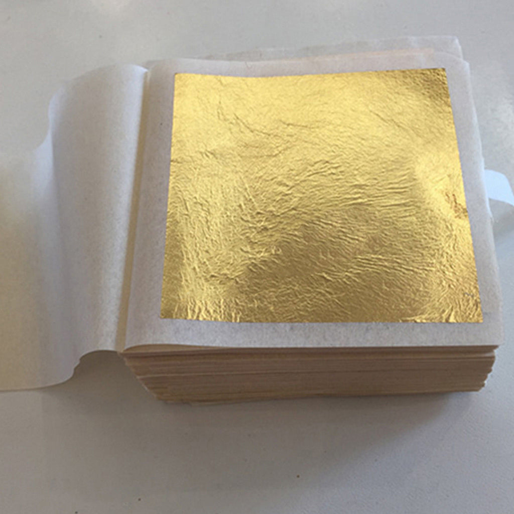 10 Sheets Gold Foil for Gold Leaf Facial