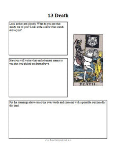 Intuitive Tarot Card Worksheets